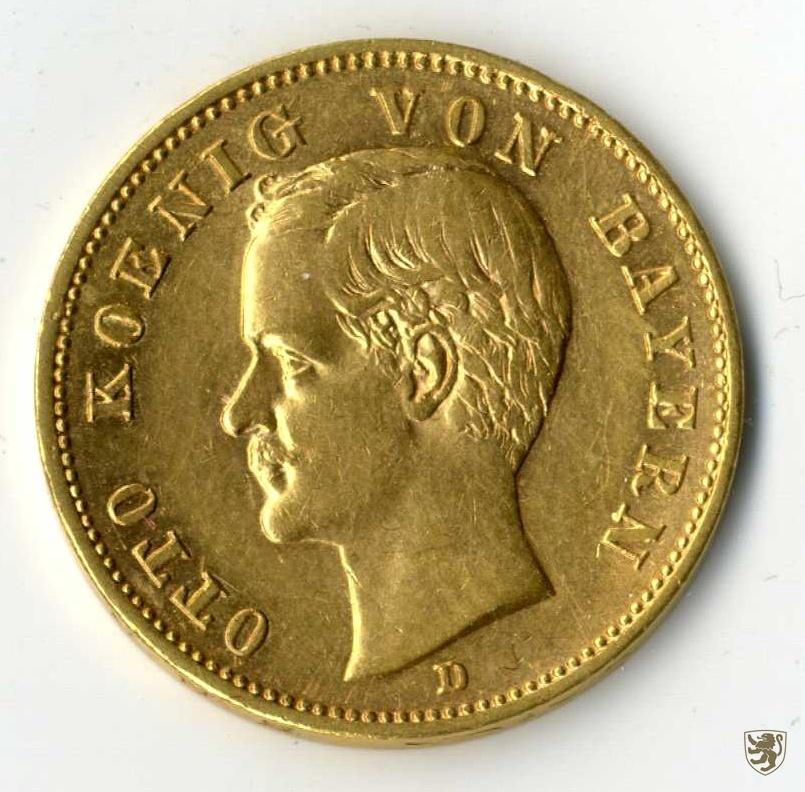 bayern otto 20 mark 1905 d gold jg 200 vorz glich ebay. Black Bedroom Furniture Sets. Home Design Ideas